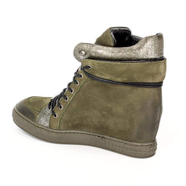 Sneakersy Carinii B3733/N-L43-000-PSK-B88 Zielony