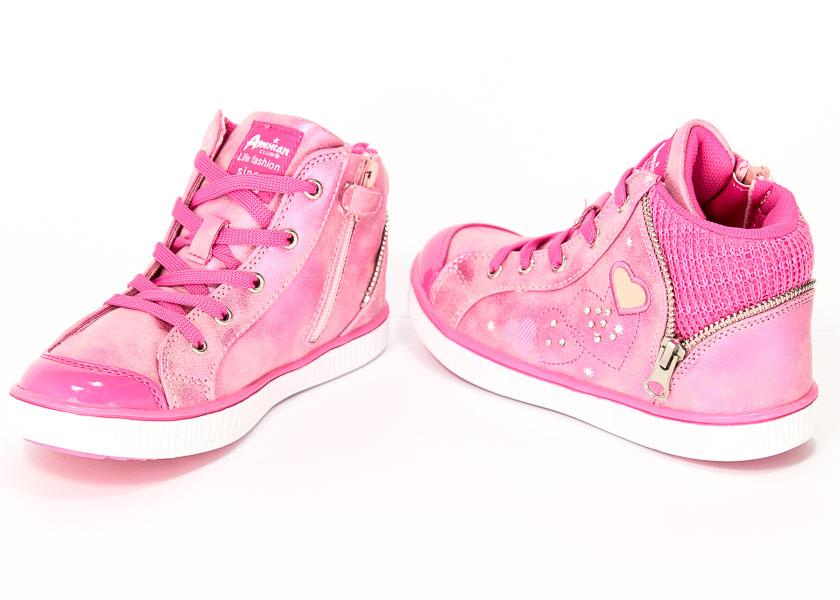 Trzewiki American K131353 Pink/Fuxia  r.27-31