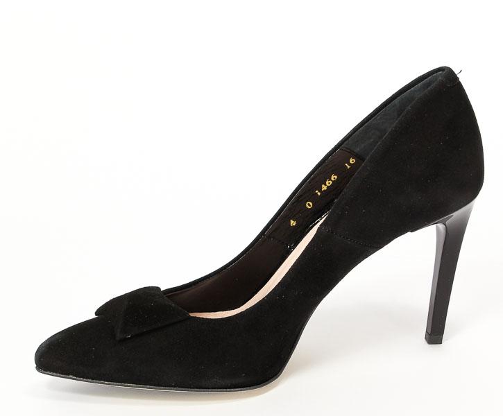Czółenka Bravo Moda 1466 Czarny zamsz