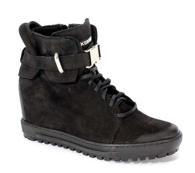 Sneakersy Eksbut 77-4518-549-Czarny Nubuk