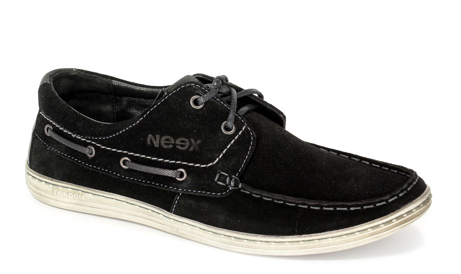 Półbuty Neex 080 Welur czarny