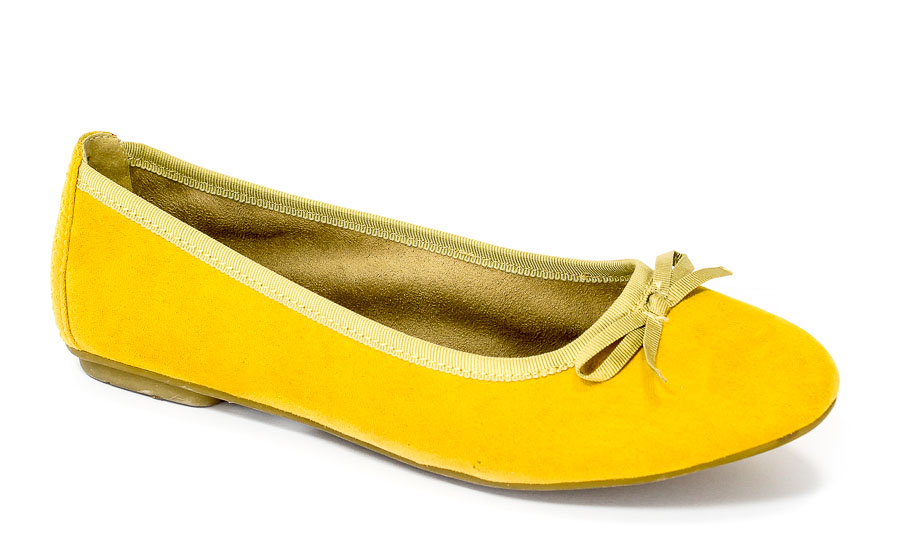 Baleriny Soft Line 8-22163-20 Yellow.Prz