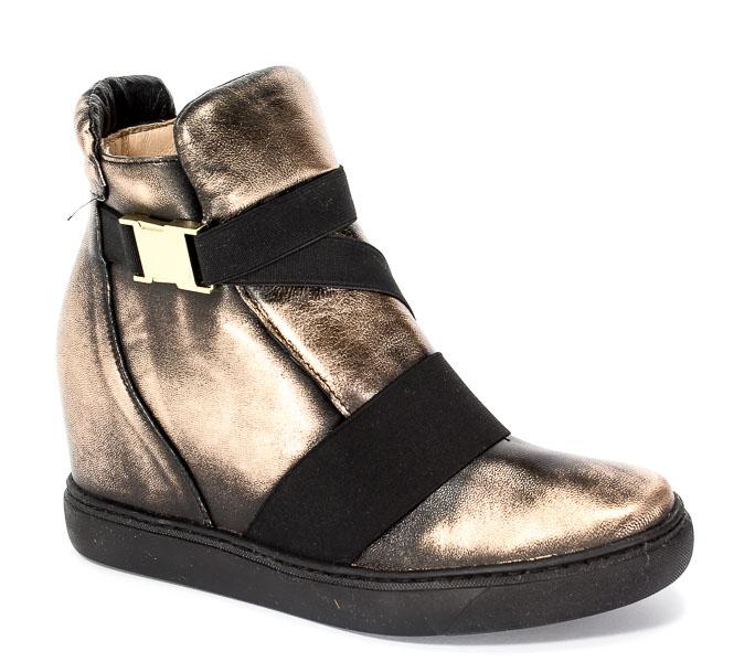 Sneakersy Eksbut 77-4492-G79 Czarny-Miedź Lic