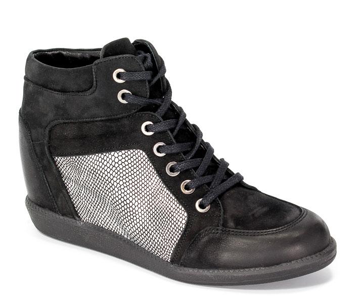 Sneakersy Carinii B3744-360-I26-PSK-B14 Czarny-stalowy