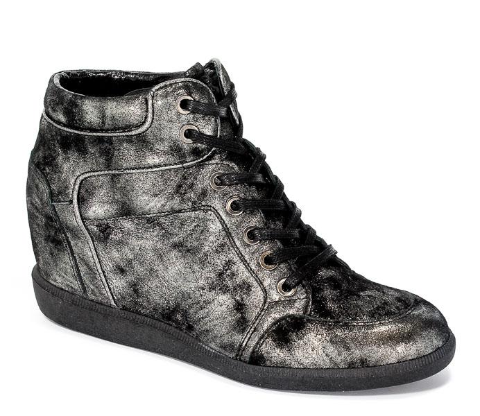 Sneakersy Carinii B3744-I23-F99-PSK-B14 Czarny-złoty