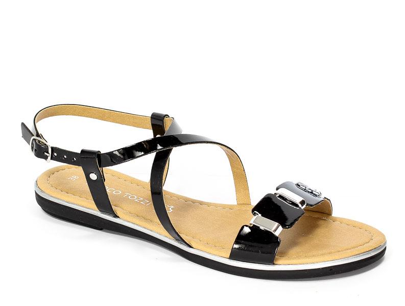 Sandały letnie Marco Tozzi 2-28141-28 Black Pat.