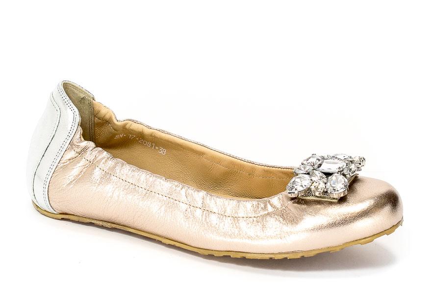 Baleriny Karino 2081-074 Złoty