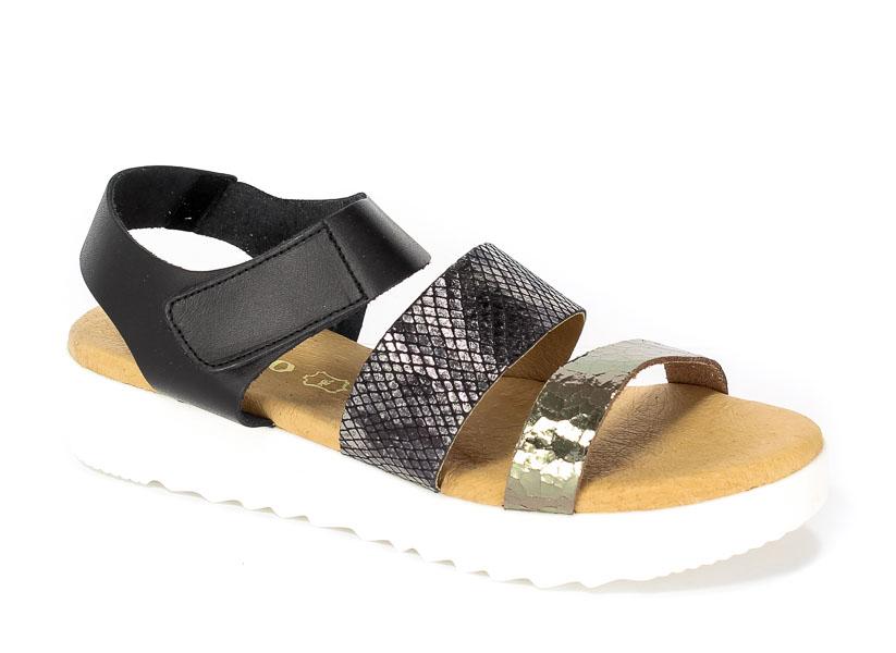 Sandały letnie Verano 5039 Negro piton crac