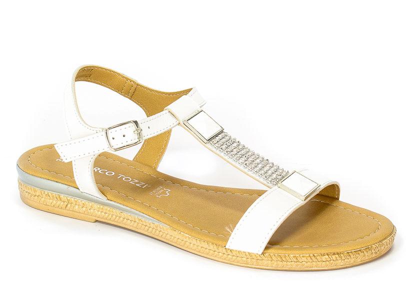 Sandały Letnie Marco Tozzi 2-28133-28 197 White comb