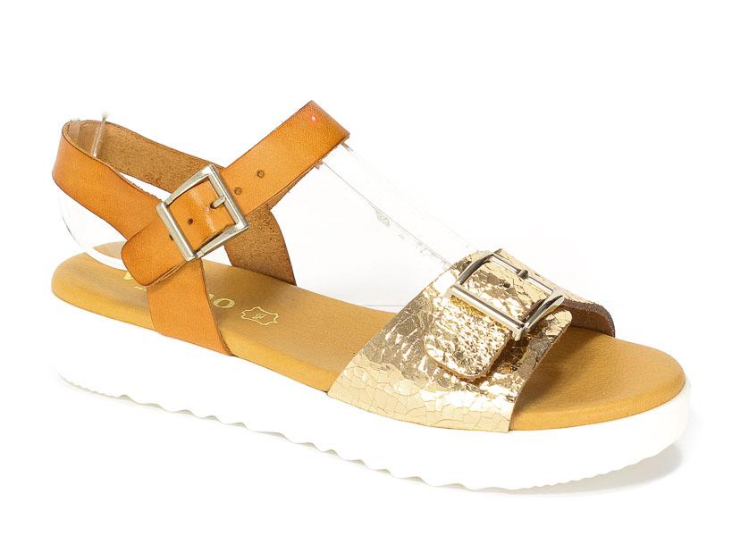 Sandały letnie Verano 5058 Sabana oro crac