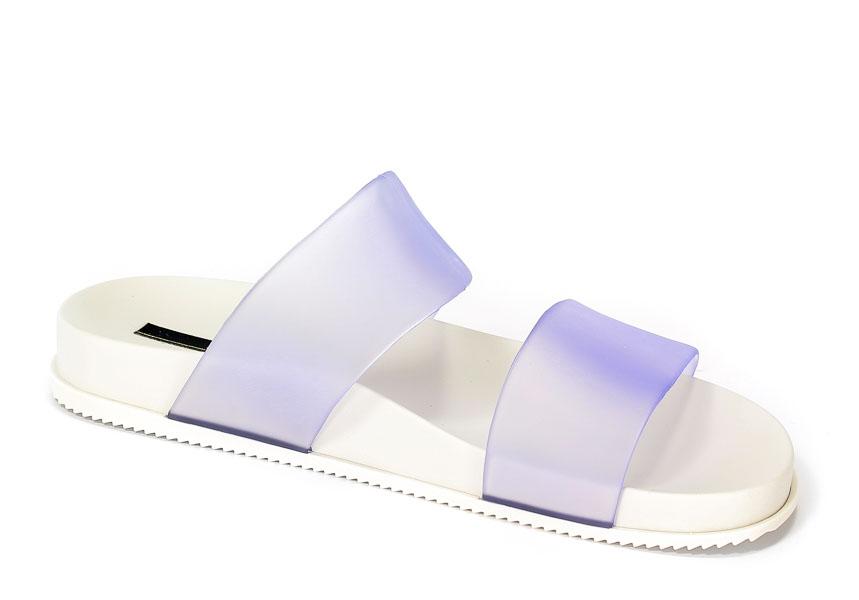 Klapki Damskie Letnie Melissa M31613-50667 Clear-White