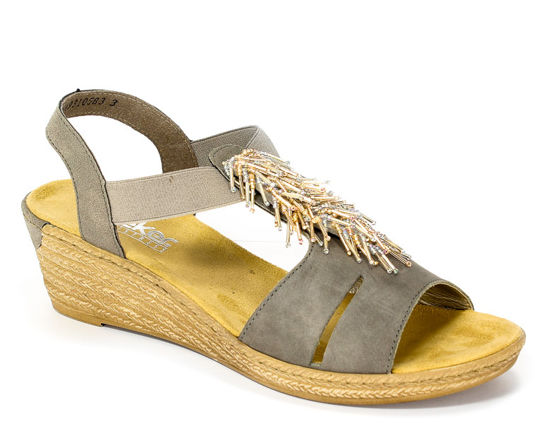 Sandały letnie Rieker 62475-45 Grey