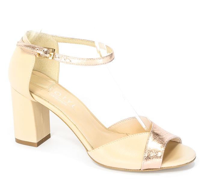 Sandały Kotyl 4321 Beż Lico + Róż Złoto