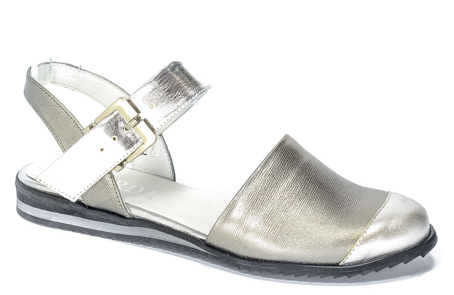 Sandały Korda 1565 Srebro+Srebro-1