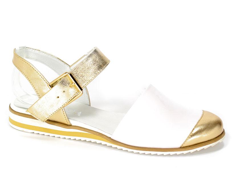 Sandały Korda 1565 Złoty+ Biały