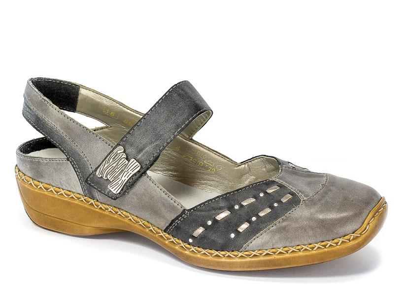 Sandały Rieker 41369-41 Grey Combination