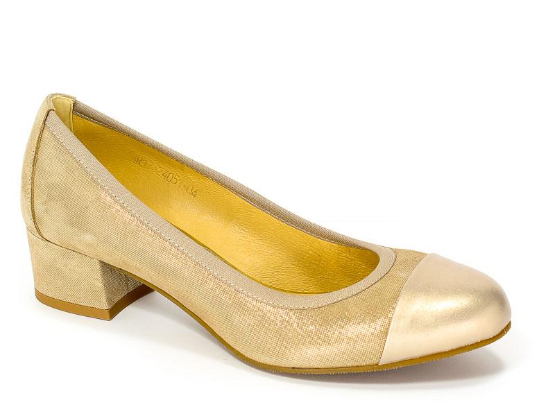 Półbuty Uncome 24051 Beige Gold