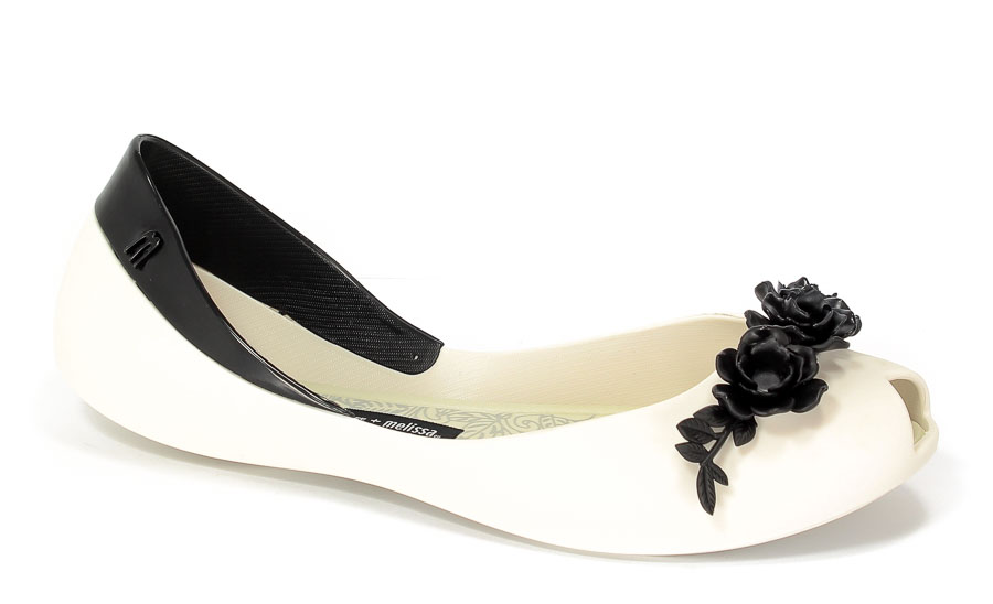 Baleriny letnie Melissa M31662 50735 White/Black