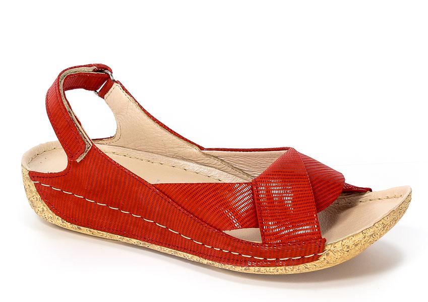 Sandały Euro Moda Tych. 521 Czerwony Tejus