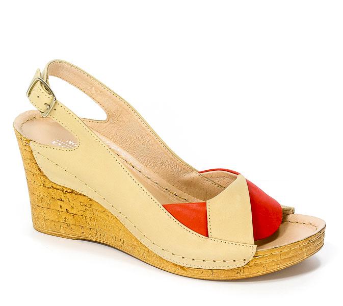 Sandały Euro Moda Tych.1 564 Mleko Koral