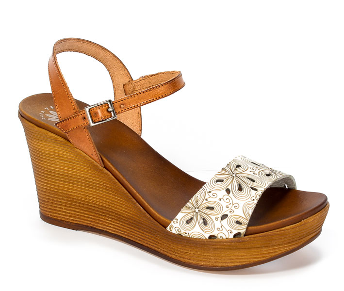 Sandały Gaia Verdi Por 2258 Bianco