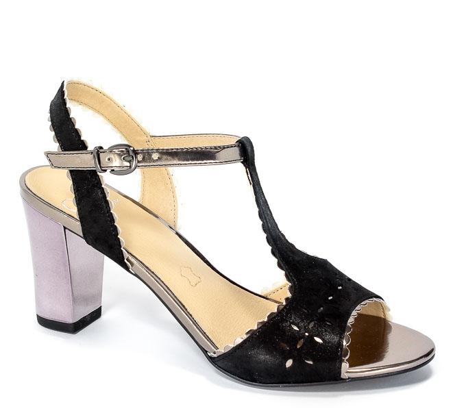 Sandały Caprice 9-28305-28 033 Black Sue Comb