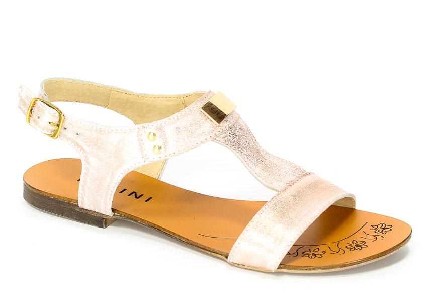 Sandały Ravini 597/1 Biały/Róż