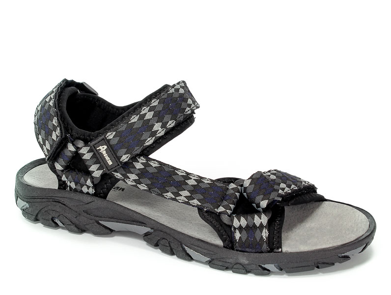 Sandały American RL1626 Black/Grey