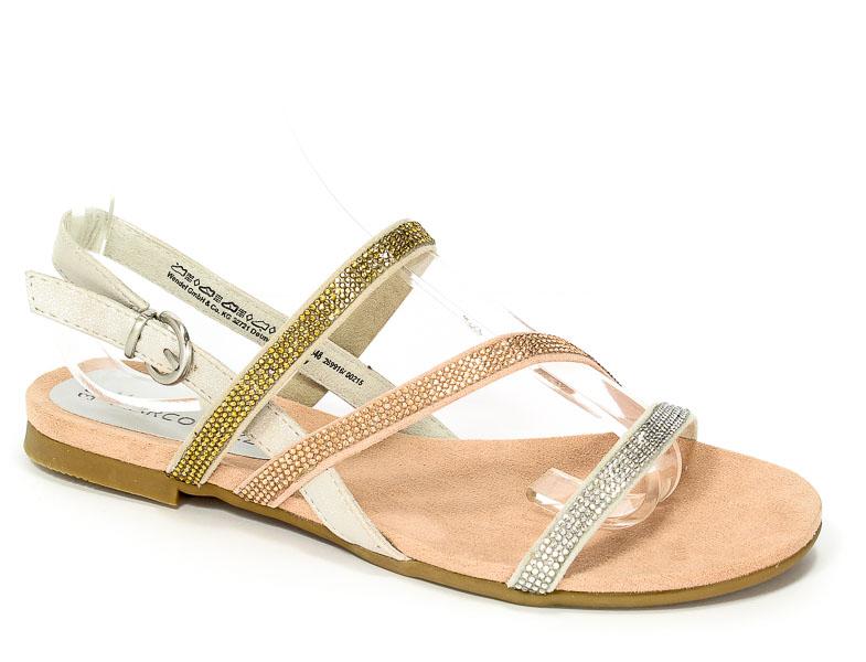 Sandały Marco Tozzi 2-28157-38 948 Silver Comb