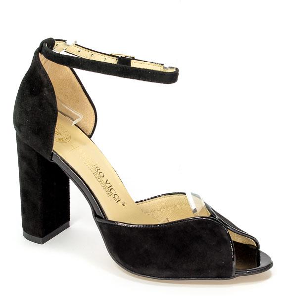 Sandały Arturo Vicci 3422/4861 Czarny Zamsz