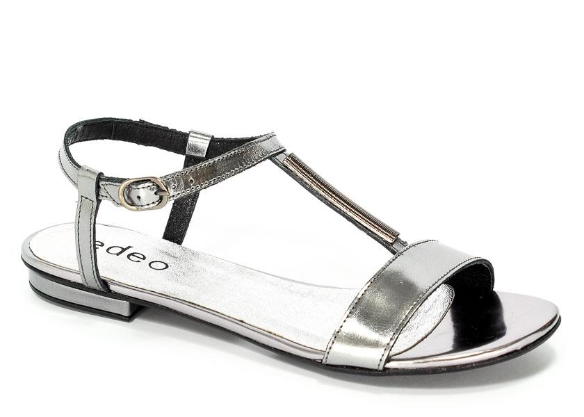 Sandały Edeo 3078-S60/681 Ciemne Srebro