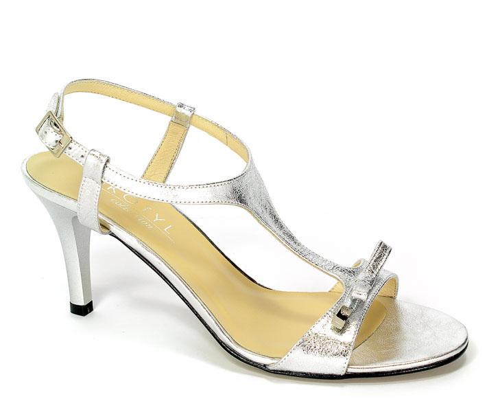 Sandały Kotyl 4305 Srebro Jasne