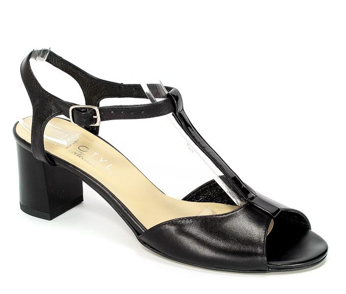 Sandały Kotyl 1185 Czarny Lico+Czarny Lakier