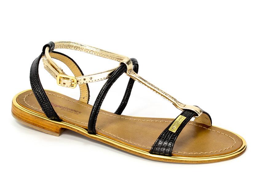 Sandały Les Tropeziennes 07151 Haquina Black/Gold