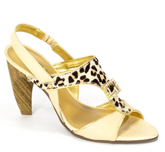 Sandały Dumond 4103412 Natural/Offwhite Prz.