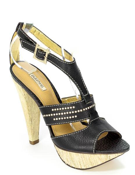 Sandały Dumond 4103440 Capra Rustico Preto Prz.