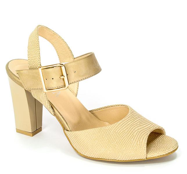 Sandały Korda 1694 LZLTX+Złoty-P