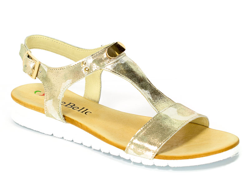 Sandały CheBello 501  Moro Złoto