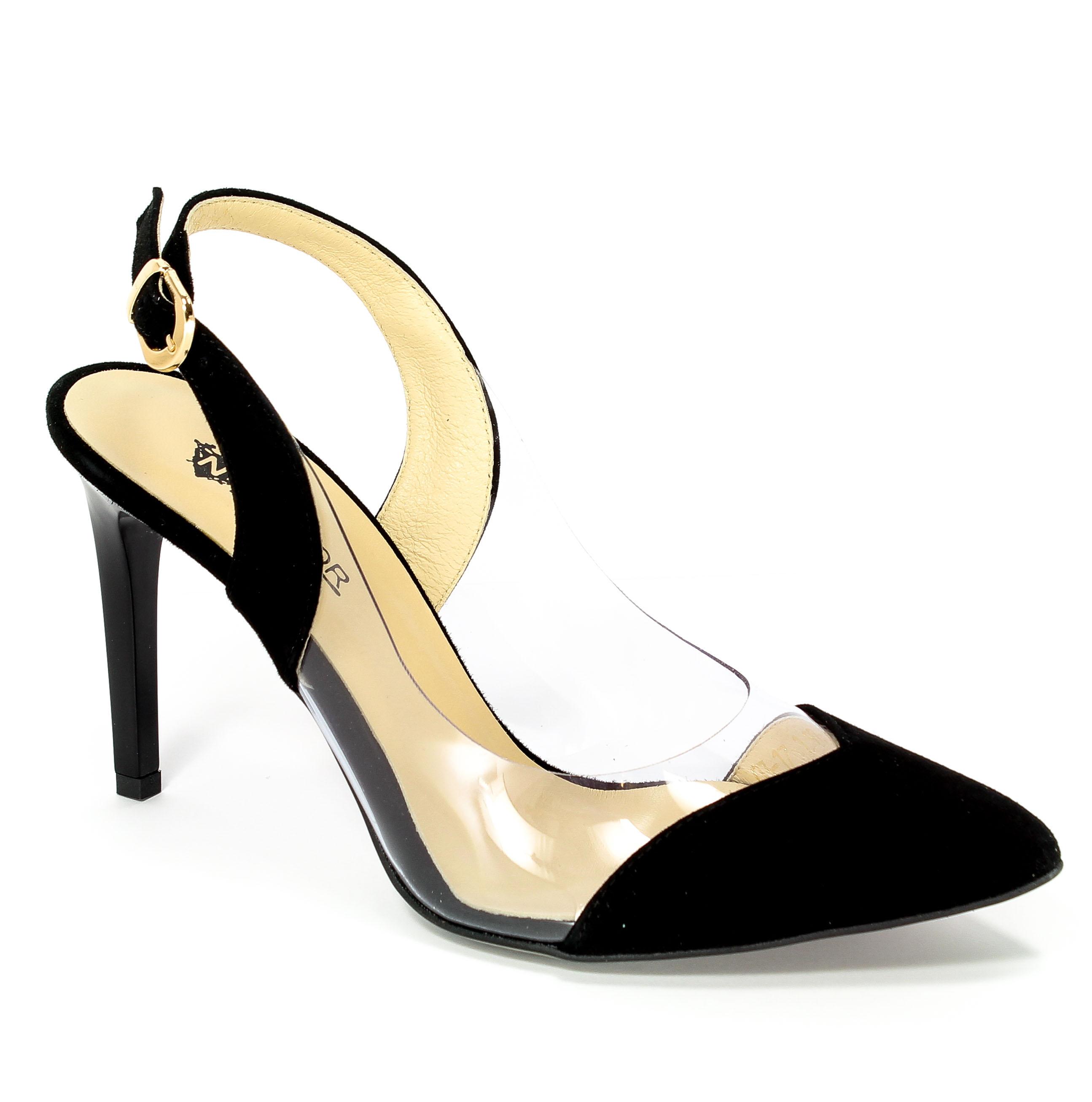 Sandały Neścior 092-N Czarny Zamsz