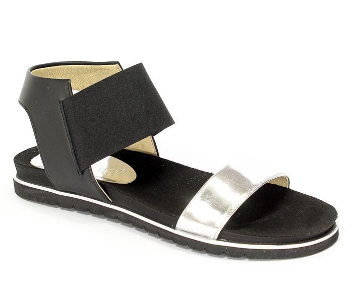 Sandały Karino 2114/115-P Czarno/Srebrny