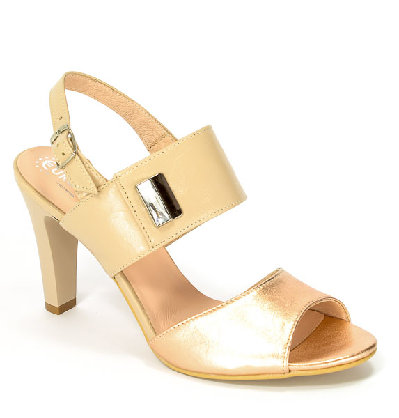 Sandały Eksbut 37-4564-I16/C91-1G Miedź
