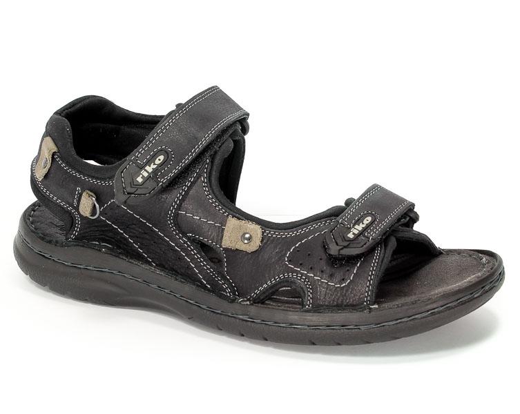 Sandały Riko 552 Crazy Czarne/Szary