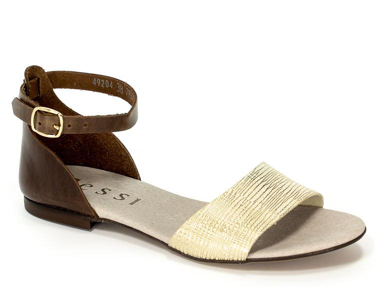 Sandały Nessi 49204 Brąz+Stampa