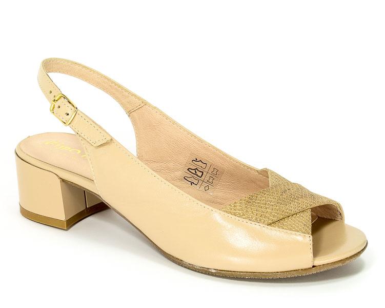 Sandały Eksbut 37-4565-C91/H68-1G Beż