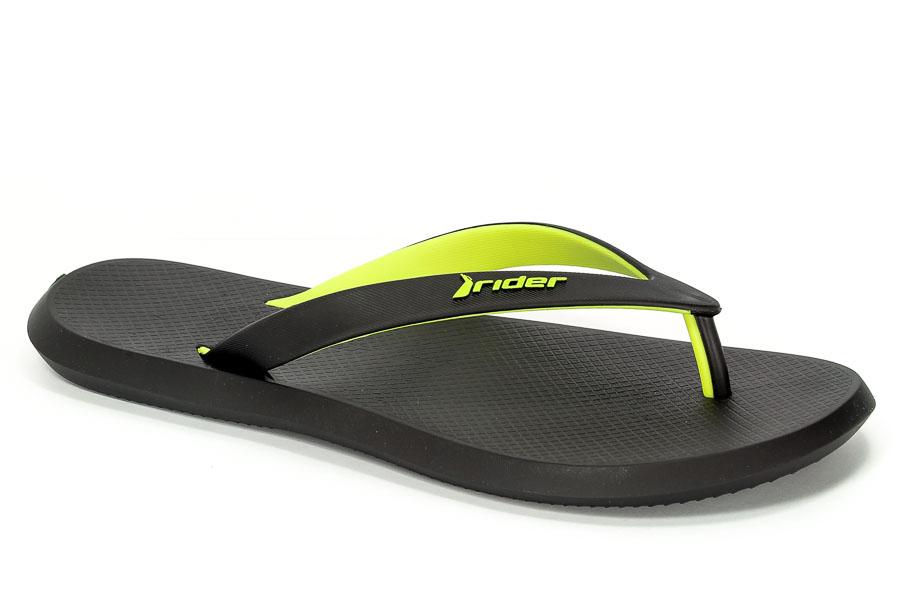 Klapki Rider 10594 23749 Black/Yellow/Black