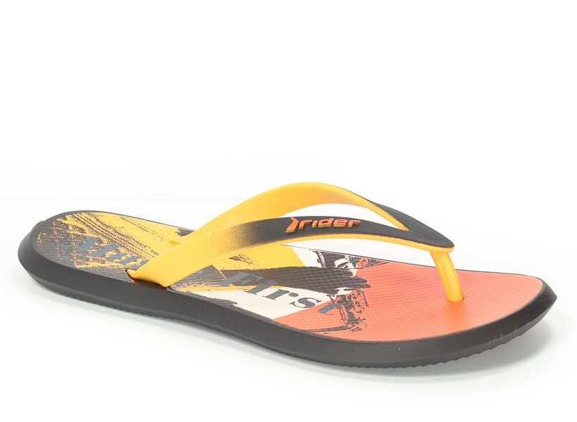 Klapki Rider 82024 23923 Black/Yellow/Orange