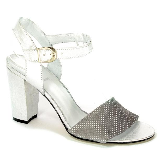 Sandały A.J.F 00562 Szary/Srebrny