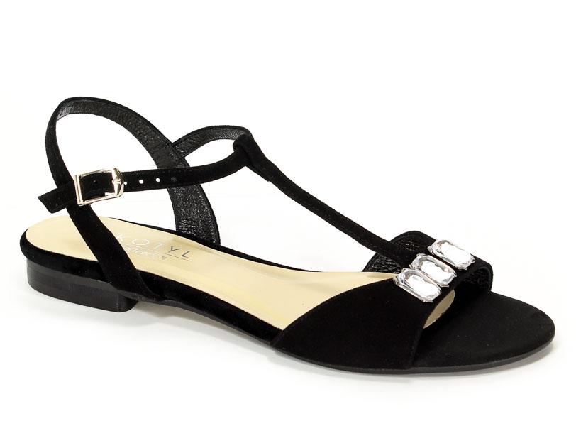 Sandały Kotyl 035 Czarny Zamsz