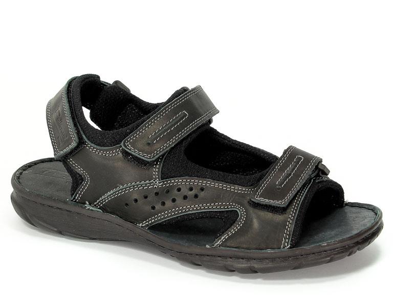 Sandały Pollonus 6070 Czarny Krast