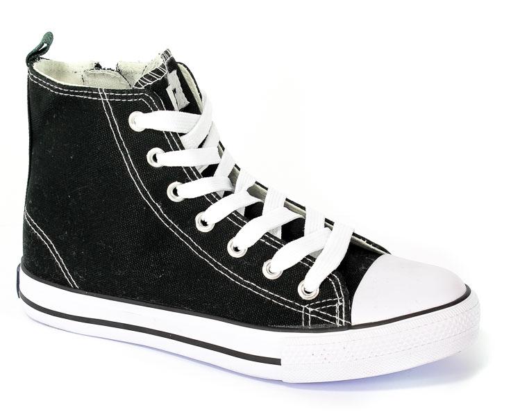 Półbuty American 9120-01/11 Black-01/White